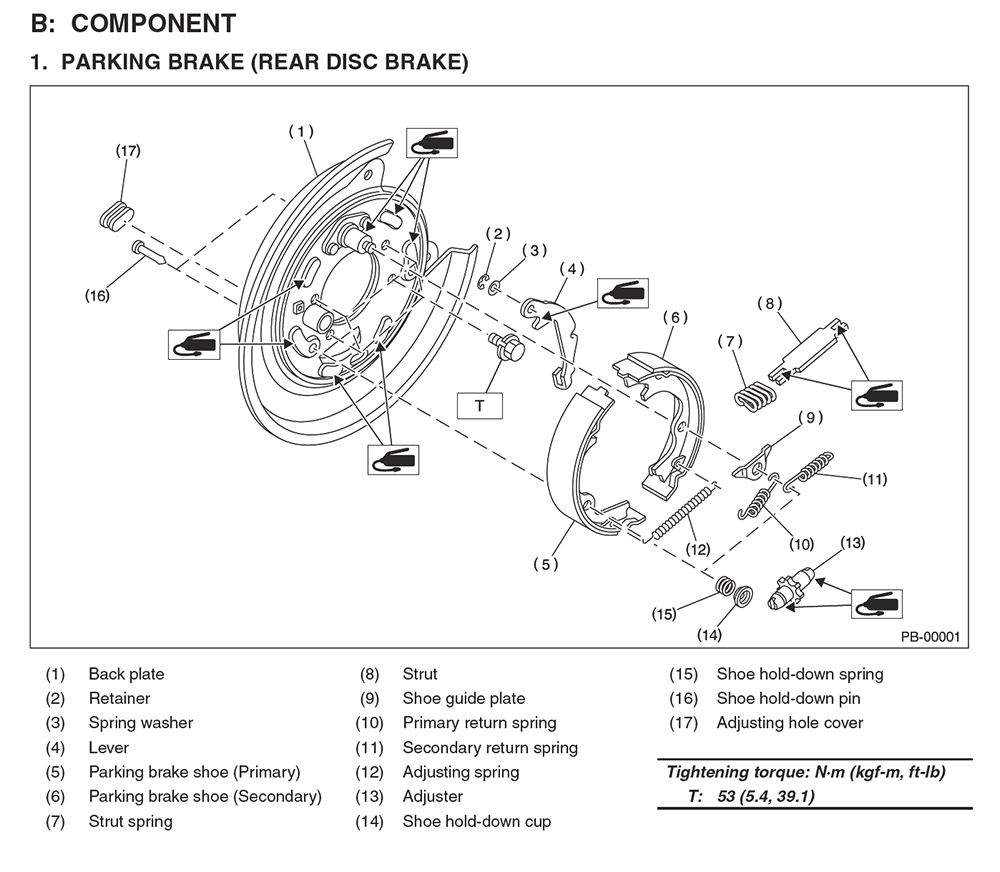 Forester Drum Brake Diagram Not Lossing Wiring Rear Diy Parking Assembly Rebuild Nasioc Rh Forums Com Jeep